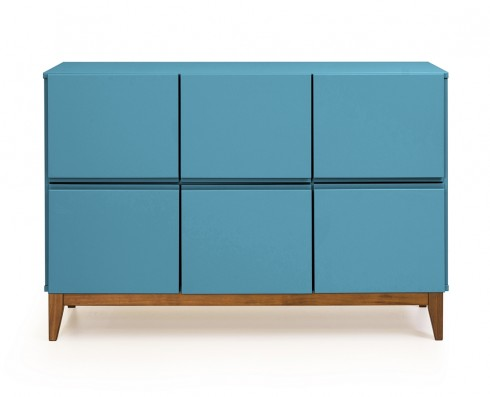 Buffet 6 Portas Home  -  Azul Turquesa