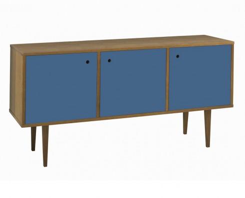 Buffet Vintage 3 Portas  -  Azul