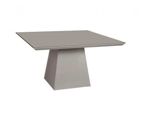 Mesa de Jantar com tampo de vidro Fendi Elisa -  Quadrada 1.36 x 1.36
