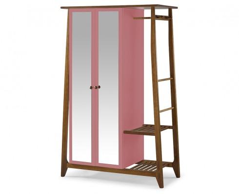 Armário Multiuso Stoka 2 portas  -  Rosa
