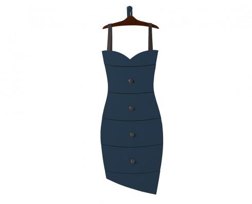 Cômoda Dress  - Azul Escuro
