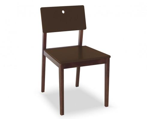 Cadeira Flip  -  Marrom Escuro