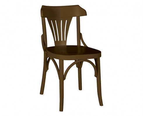 Cadeira Opzione - Marrom Escuro