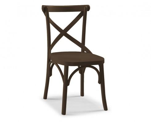 Cadeira X - Marrom Escuro