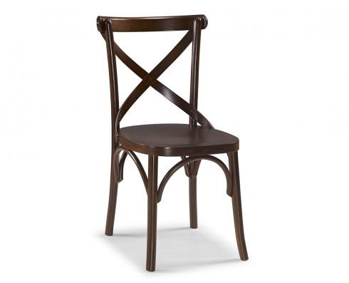 Cadeira X - Madeira Natural Escura