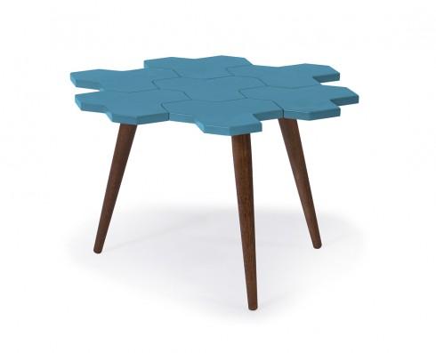 Mesa de Centro Colméia  -  Azul Turquesa