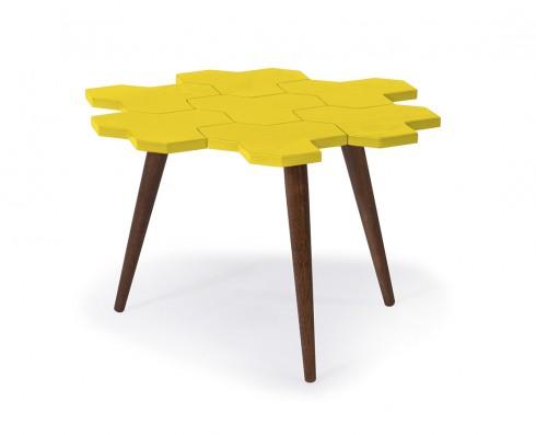 Mesa de Centro Colméia  -  Amarela