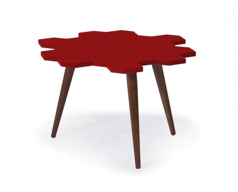 Mesa de Centro Colméia  -  Vermelha