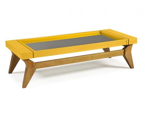 Mesa de Centro Crystal  -  Amarela