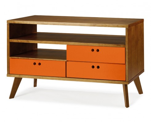 Rack Vintage Holly 120 cm  -  Laranja